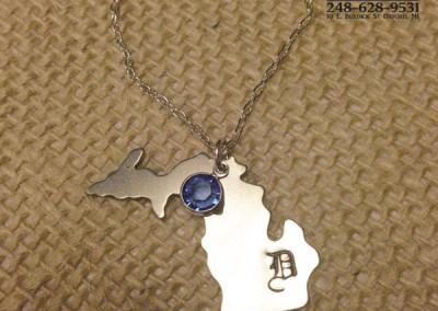 Detroit D Michigan Necklace example