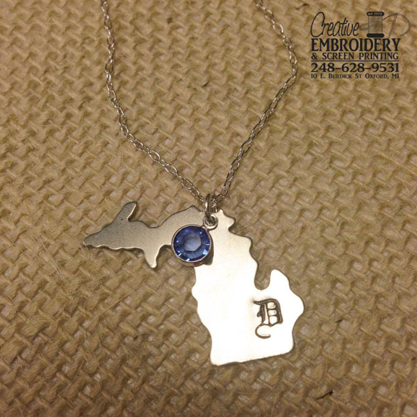 Detroit D Michigan Necklace example