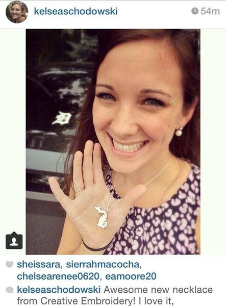 Kelsea instagram Detroit necklace
