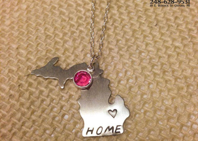 Michigan Home Necklace example