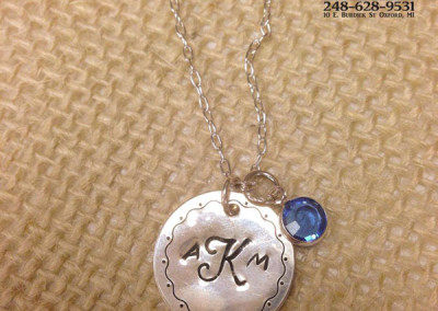 Monogram AKM necklace example