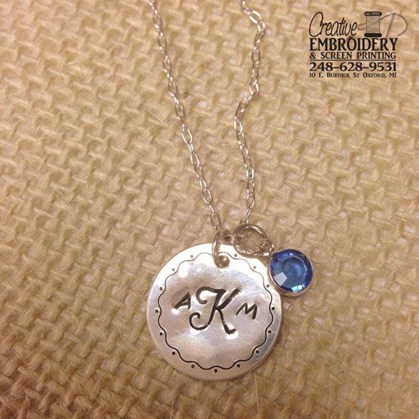 Monogram AKM necklace example
