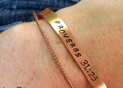 Proverbs 31.25 bracelet