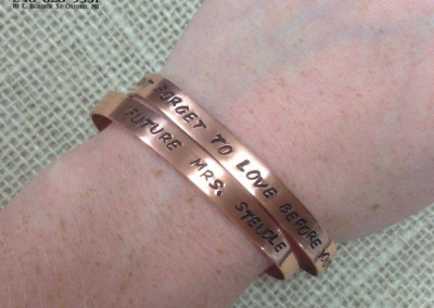 Stacked braclets on wrist example