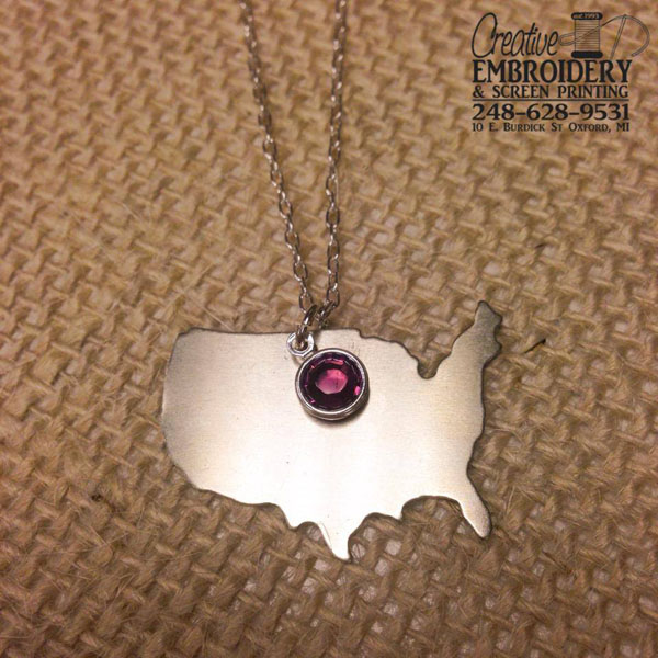 USA necklace blank example